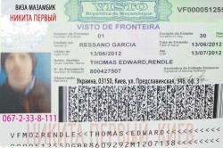 Виза в Мозамбик образец
