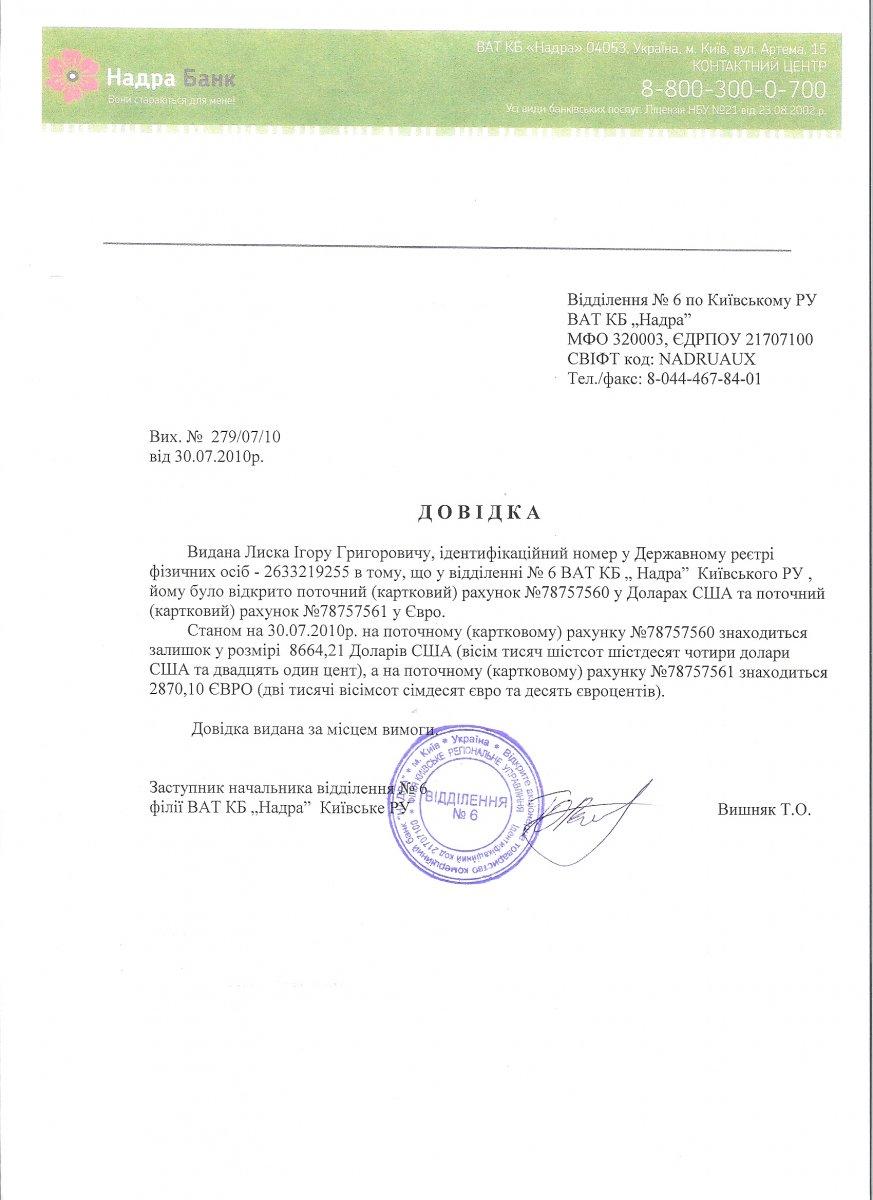 Справка из банка для визы киев в каком банке можно взять кредит без поручителей и справок